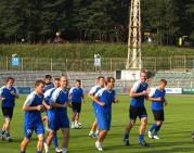 """Į Minską atvykusi """"Kruoja"""" surengė treniruotę """"Traktor"""" stadione"""